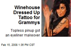 Winehouse Dressed Up Tattoo for Grammys