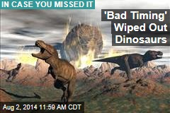 'Bad Timing' Wiped Out Dinosaurs