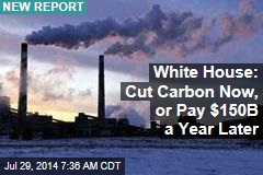 White House: Cut Carbon Now, or Pay $150B a Year Later
