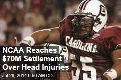 NCAA Reaches $70M Settlement Over Head Injuries