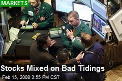 Stocks Mixed on Bad Tidings