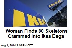 Woman Finds 80 Skeletons Crammed Into Ikea Bags
