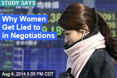 Why Negotiators Lie to Women