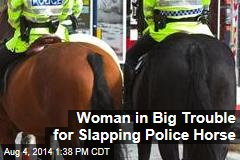 Woman in Big Trouble for Slapping Police Horse