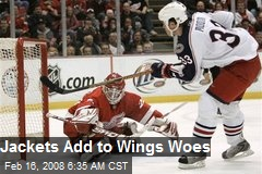 Jackets Add to Wings Woes