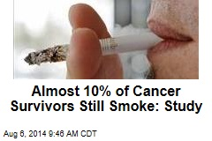 Almost 10% of Cancer Survivors Still Smoke: Study