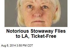 Notorious Stowaway Flies to LA, Ticket-Free