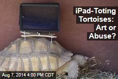 iPad-Toting Tortoises: Art or Abuse?
