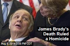 Press Sec James Brady's Death Ruled a Homicide