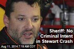 Sheriff: No Criminal Intent in Stewart Crash