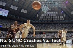 No. 5 UNC Crushes Va. Tech