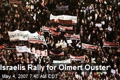 Israelis Rally for Olmert Ouster