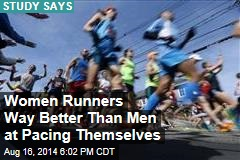 Women Runners Way Better Than Men at Pacing Themselves