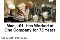 Man, 101, Has Worked at Lighting Company 73 Years