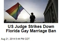 US Judge Strikes Down Florida Gay Marriage Ban