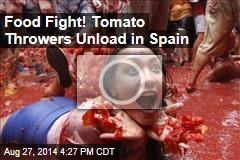 Food Fight! Tomato Throwers Unload in Spain