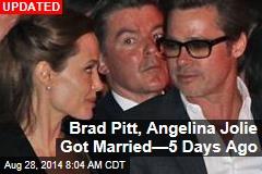 Brad Pitt, Angelina Jolie Got Married