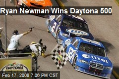 Ryan Newman Wins Daytona 500