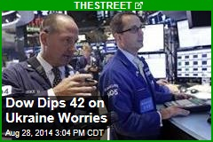 Dow Dips 42 on Ukraine Worries