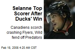 Selanne Top Scorer After Ducks' Win