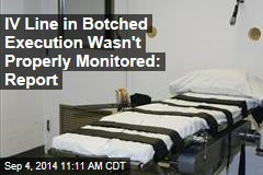 IV Line in Botched Execution Wasn't Properly Monitored: Report