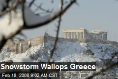 Snowstorm Wallops Greece
