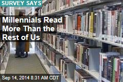 Millennials Read More Than the Rest of Us