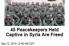 Syria Rebels Free 45 Fiji Peacekeepers