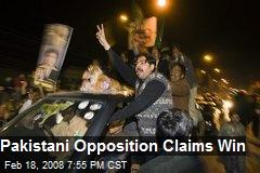 Pakistani Opposition Claims Win