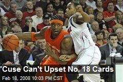 'Cuse Can't Upset No. 18 Cards