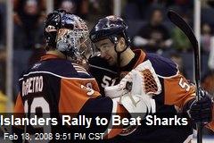 Islanders Rally to Beat Sharks