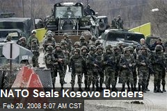 NATO Seals Kosovo Borders