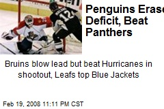Penguins Erase Deficit, Beat Panthers