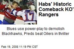 Habs' Historic Comeback KO's Rangers