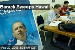 Barack Sweeps Hawaii