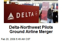 Delta-Northwest Pilots Ground Airline Merger