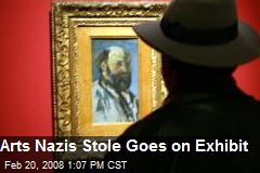Arts Nazis Stole Goes on Exhibit