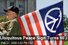 Ubiquitous Peace Sign Turns 50