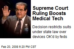 Supreme Court Ruling Boosts Medical Tech