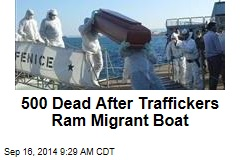 500 Dead After Traffickers Ram Migrant Boat