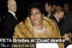 PETA Bristles at 'Cruel' Aretha