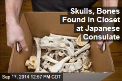 Skulls, Bones Found in Closet at Japanese Consulate
