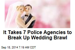 It Takes 7 Police Agencies to Break Up Wedding Brawl