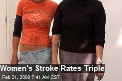 Women's Stroke Rates Triple