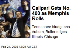 Calipari Gets No. 400 as Memphis Rolls