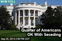 Quarter of Americans OK With Seceding