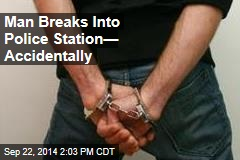 Man Breaks Into Police Station— Accidentally