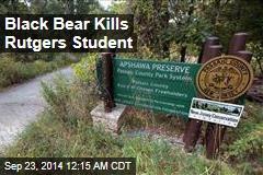 Bear Kills New Jersey Student