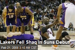 Lakers Fell Shaq in Suns Debut
