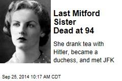 Last Mitford Sister Dead at 94